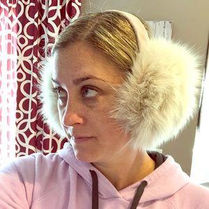 Real fur earmuffs